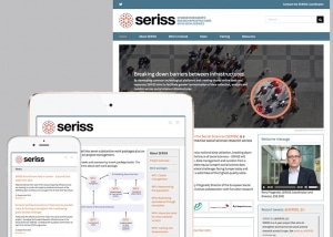 views of the SERISS website on various device sizes