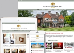 views of Claverton House website on different devices