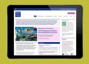 BMS website on tablet