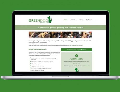 GreenDog Grooming website