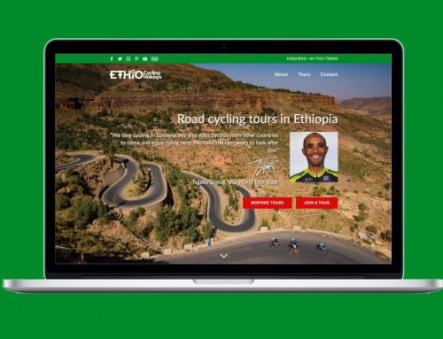 Ethio Cycling Holidays website